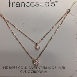 Francesca rose gold necklace